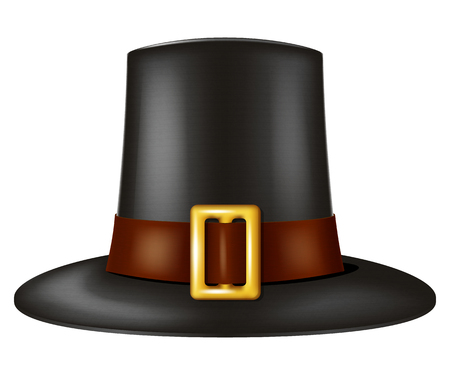 Pilgrim hat. Vector illustration.