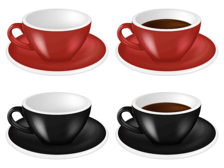 Set of coffee cups. Vector illustration.