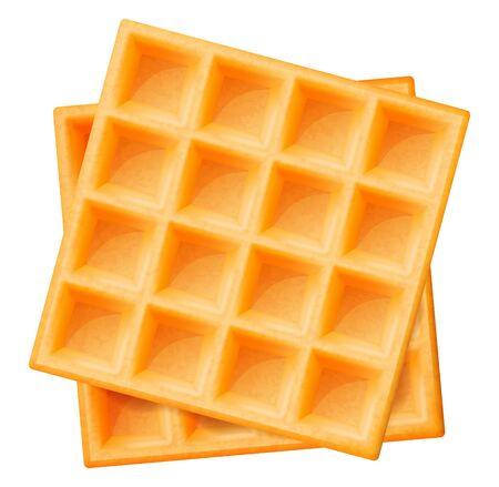 Belgian waffles. Vector illustration.