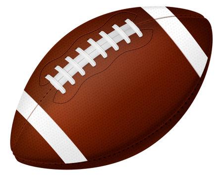 American football ball. Vector illustration?