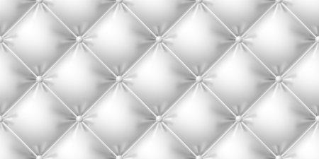 Seamless white leather sofa texture. Photo-realistic vector illustration. 向量圖像