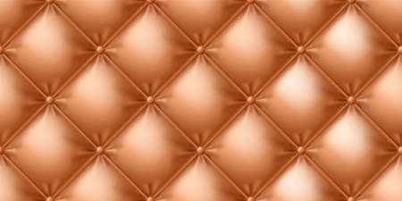 Seamless leather sofa texture. Photo-realistic vector illustration.