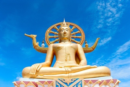 thai believe: Statue of Buddha in Thailand, island Koh Samui Stock Photo
