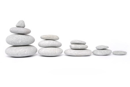 spa stones: Abstract. Stone towers isolated on white background