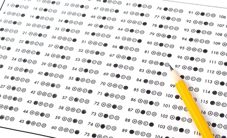Test score sheet with answers Stock Photo - 10507558