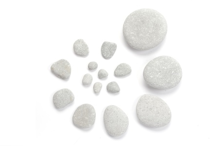 Abstract. Stones isolated on white background photo