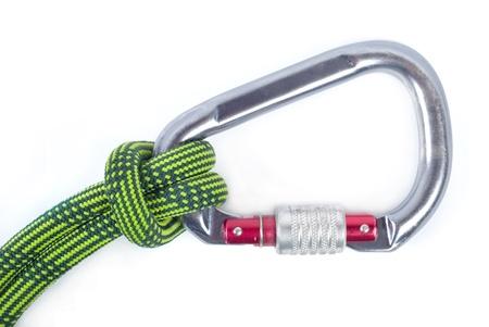 carabiner: equipment fot mountain climbing Stock Photo