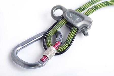 rapell: equipment fot mountain climbing Stock Photo
