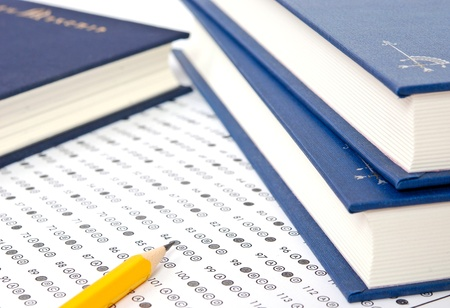 School and Education. Test score sheet with answers Stock Photo - 11575650
