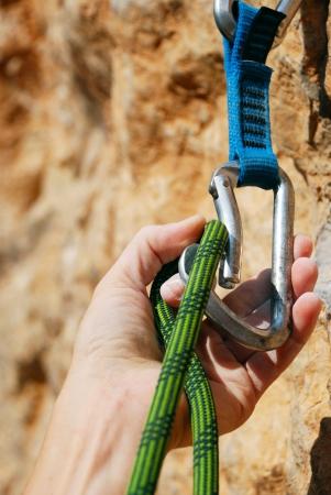 Extreme Sport Rope zum Klettern und schnell zieht Standard-Bild - 15077989