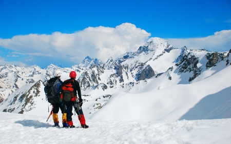 Sport  Two climbers on the Himalayan mountain