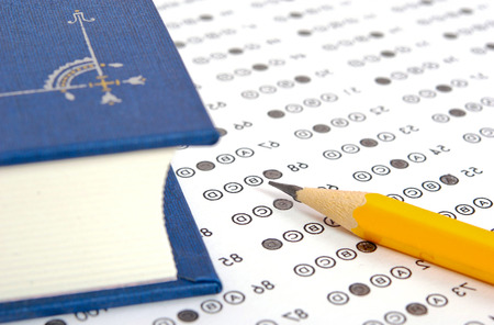 School and Education  Test score sheet with answers