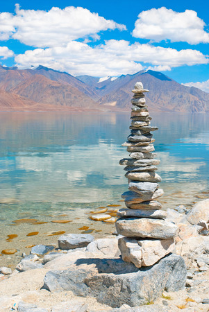 Pebbles tower Zen and balance photo