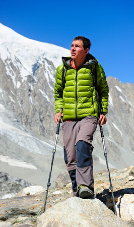 himalaya: Hiking in Himalaya mountains