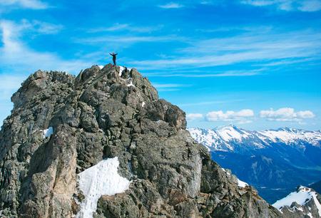 The rock-climber on theThe rock-climber on the summit summit