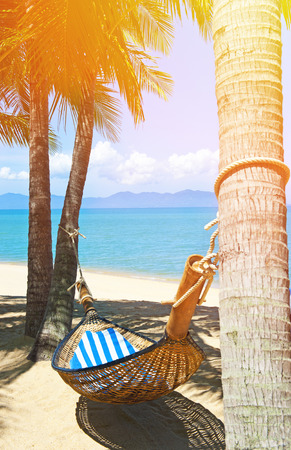 puttering: Hammock on the tropical white beach