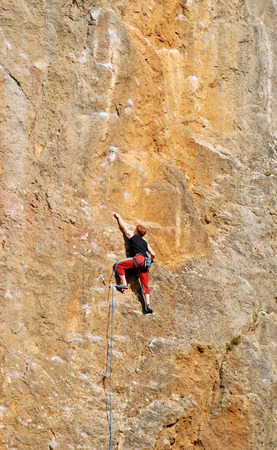 rockclimber: The rock-climber during rock conquest