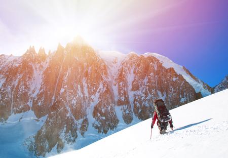 Winter alpine trekking