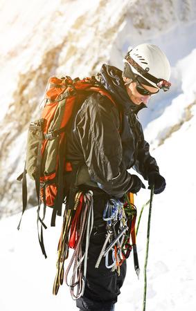 tenacious: Climber on the snowy mountains