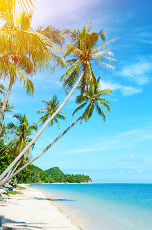 Tropical beach at Thailand - vacation background Stock Photo