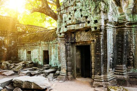 civilization: Angkor wat temple in Cambodia. Ancent civilization