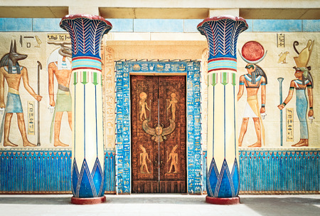 Scrittura egiziana antica sulla pietra in Egitto. Antico Egitto Archivio Fotografico - 53749910