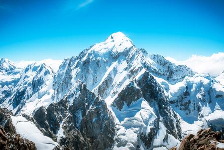 Snowy mountain peak Everest. National Park Nepal.