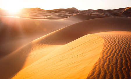 Beautiful sand dunes in the Sahara. Morocco, Africa