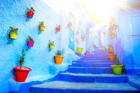 Traditional moroccan architectural details in Chefchaouen.