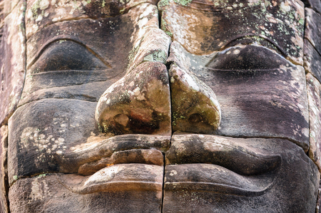 murals: Stone murals and sculptures in Angkor wat, Cambodia. Buddhism concept Stock Photo