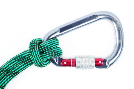 caving: Climbing equipment - rope, carabiner