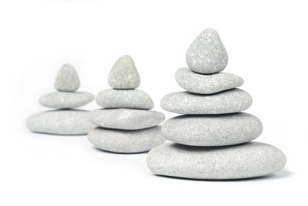 白で隔離石の塔 写真素材