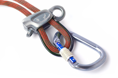 karabiner: Climbing equipment for safe climbing sportsmen
