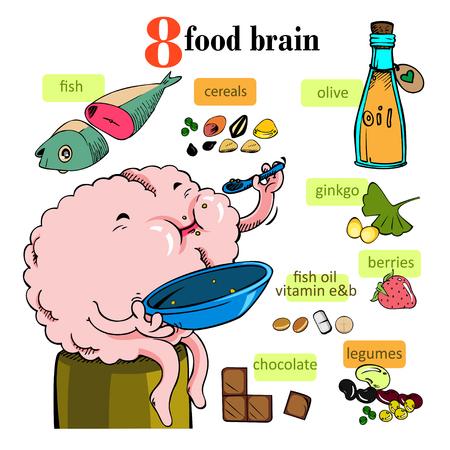 Nourish the brain Vector Illustration
