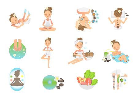 Features of the spa. vector illustration