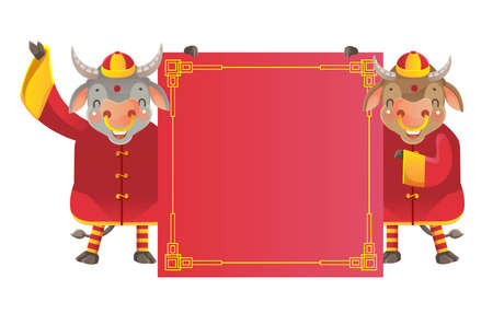 Horse holding  red paper. Chinese style. Imagens - 154719161