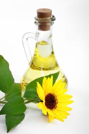 malleable: Sunflower oil in a bottle