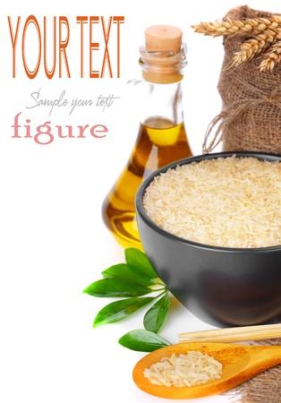 Raw white rice  Stock Photo