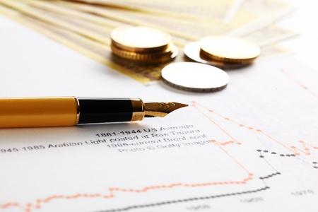 document management: Boekhouding. Stockfoto