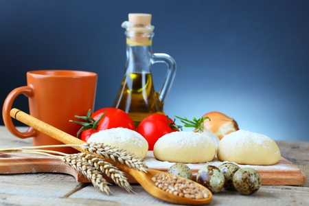 Wheat and dough photo