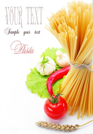 Pasta and grains of wheat Stock Photo - 9872893