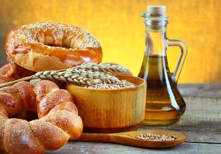 Weizen und Brot Standard-Bild