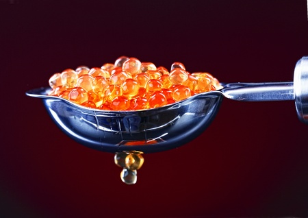 roe: Red caviar  Stock Photo