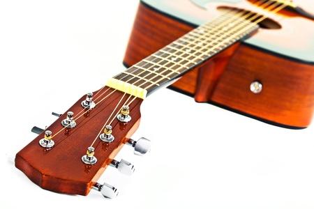 Six-string electric guitar closeup