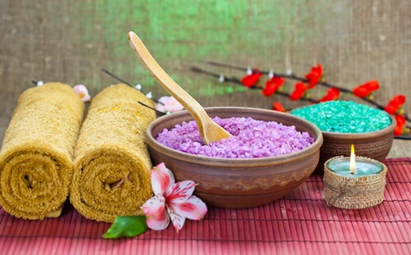 natural cosmetics: Aromatherapy Spa Stock Photo