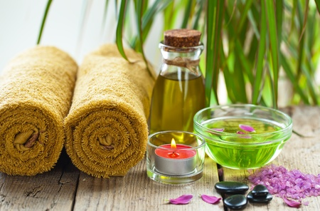 beauty products: Aromatherapy Spa Stock Photo