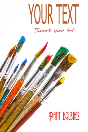 Paints and brushes Stock Photo - 16955935