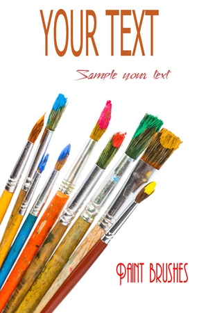 Paints and brushes Stock Photo - 16955883