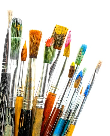 art work: Paints and brushes