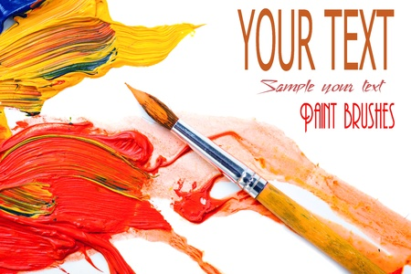 Paints and brushes  Stock Photo - 16960944